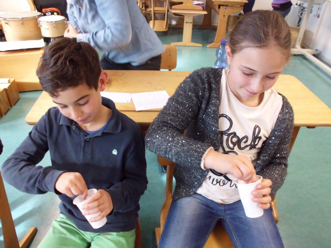 Nach dem Pacour  - die selbst hergestellte Schokolade probieren