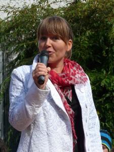Maile Schliebs bei ihrer Rede zur Auszeichnungsfeier
