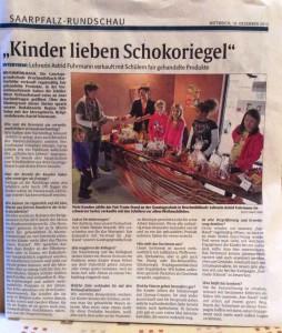 """Artikel in """"Saarpfalz-Rundschau"""" vom 18.12.2013"""