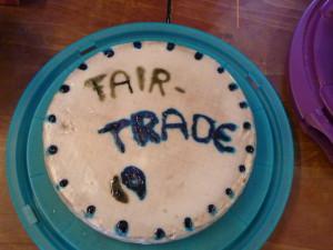 Larissa hat uns einen tollen Fairtrade-Kuchen gebacken! Danke