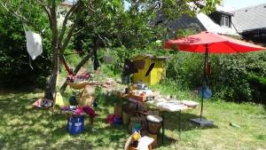 Der Verkaufsstand vom Alle Weltladen aus Furtwangen beim Sommerfest