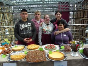 Das fleißige Chill-Café Team ......leider fehlt Frau Ortlieb auf dem Foto