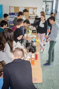 Unser Fairtrade-Stand bei der World-Coffee-Challenge :)