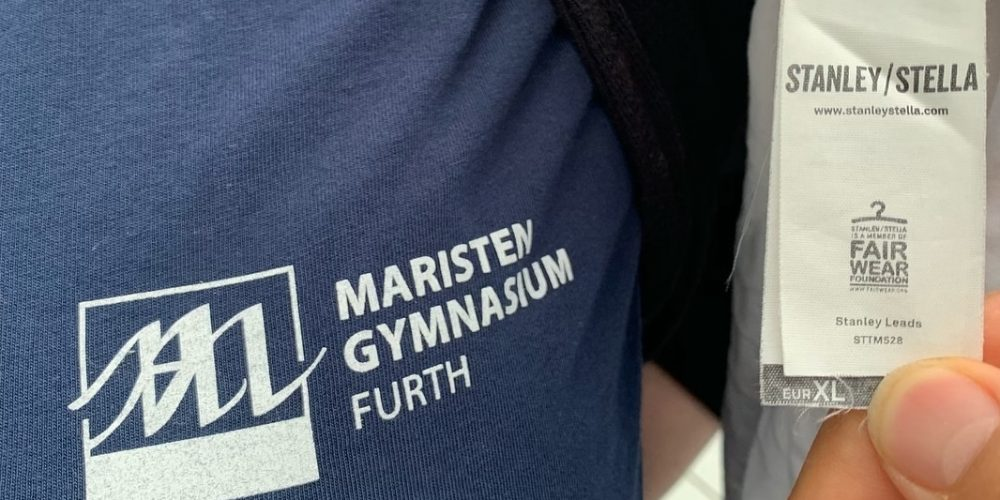 Faire Shirts am Maristen-Gymnasium Furth