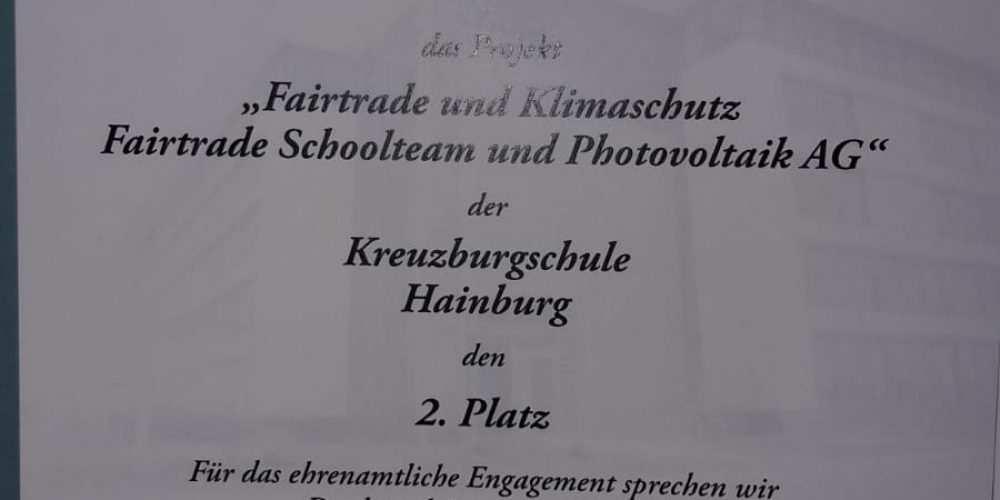 Tolle Anerkennung für Fairtrade-Schoolteam